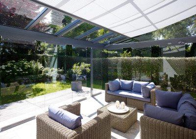 Solarlux Atrium Glashaus innen - Einfamilienhaus