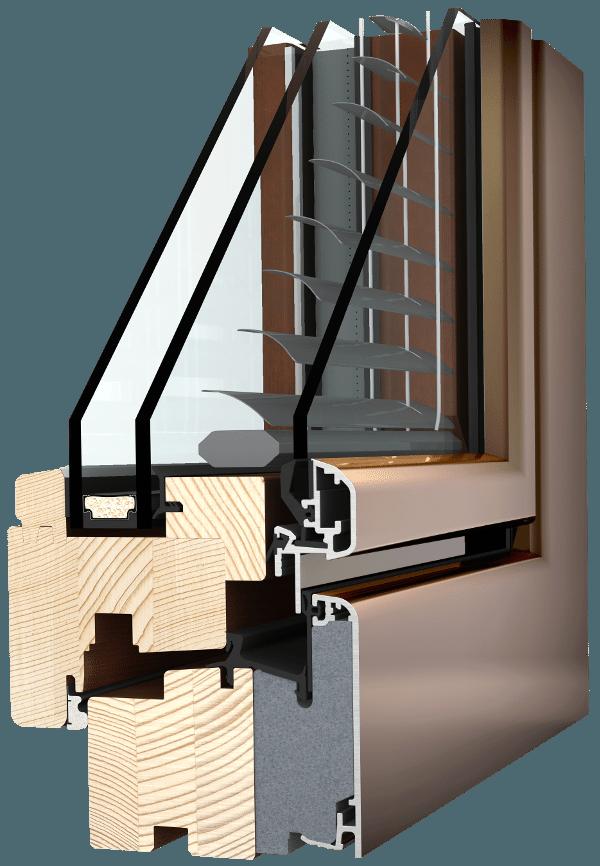 Internorm Holz-Aluminium-Verbundfenster HV350 ambiente
