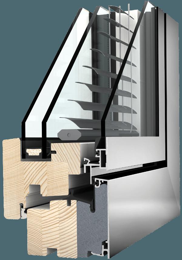 Internorm Holz-Aluminium-Verbundfenster HV350 homepure