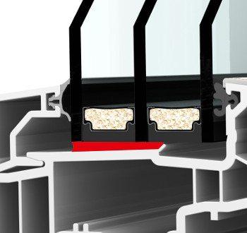 Internorm I-tec Fenster Glas Fix O Round