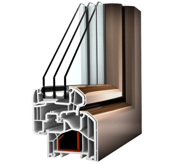 Internorm Kunststoff-Aluminium-Fenster KF300 ambiente Aluabstandhalter