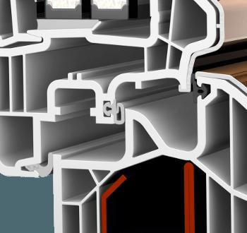 Internorm KF300 ambiente Aluabstandhalter Dichtungssystem
