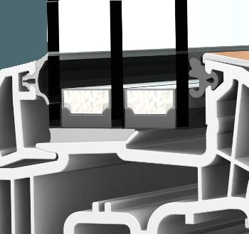 Internorm KF300 ambiente Aluabstandhalter I-Tec FIX-O