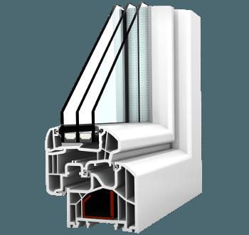 Internorm Fenster KF300 ambiente mit Aluabstandhalter
