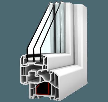 Internorm Fenster KF300 home soft mit Aluabstandhalter