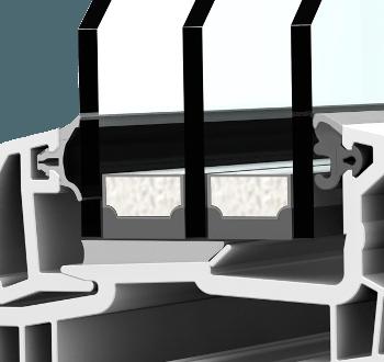 Internorm KF300 home soft Aluabstandhalter I-Tec FIX-O