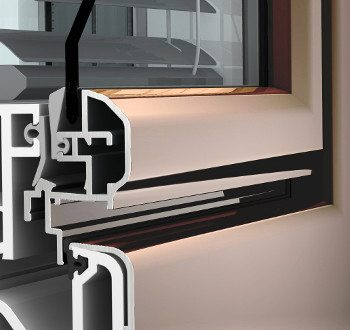Internorm Kunststoff-Aluminium-Verbund-Fenster KV440  ambiente Profilansicht