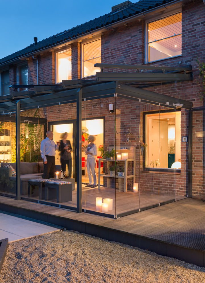 Solarlux Glashaus Atrium Einfamilienhaus