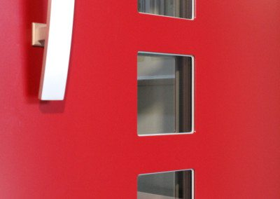 Kompotherm Haustür E-Design in rot