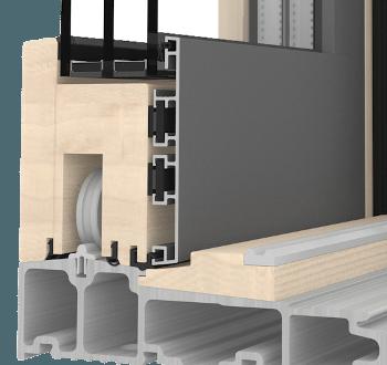 Internorm Hebeschiebetüre Holz HS330 durchdachte Holzoptik
